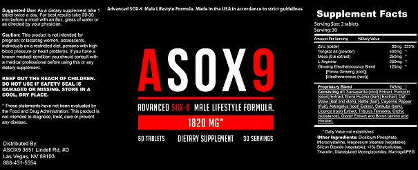 verdict of ASOX9
